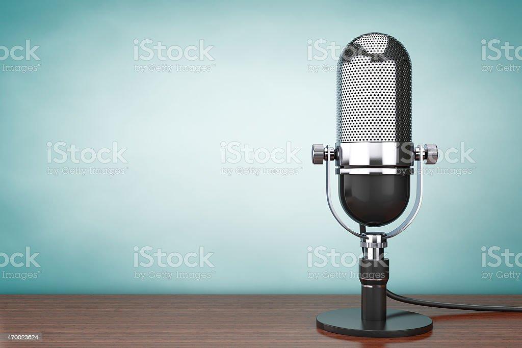 Vieux Style hoto. Microphone rétro - Photo