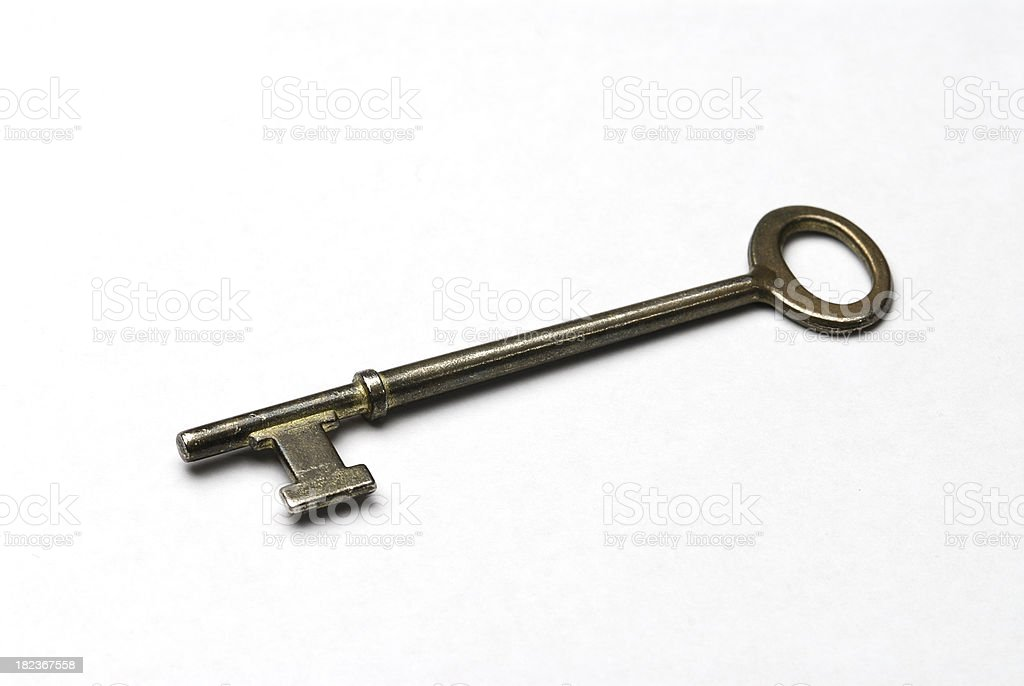 Old style key royalty-free stock photo