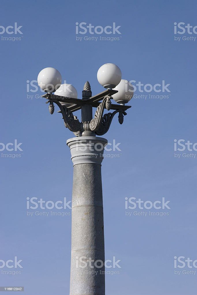 Old style lamppost royalty-free stock photo