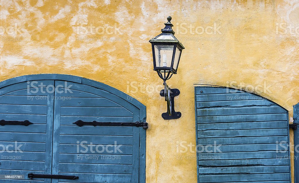 Old style lantern royalty-free stock photo