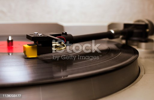 retro vinyl and turnable