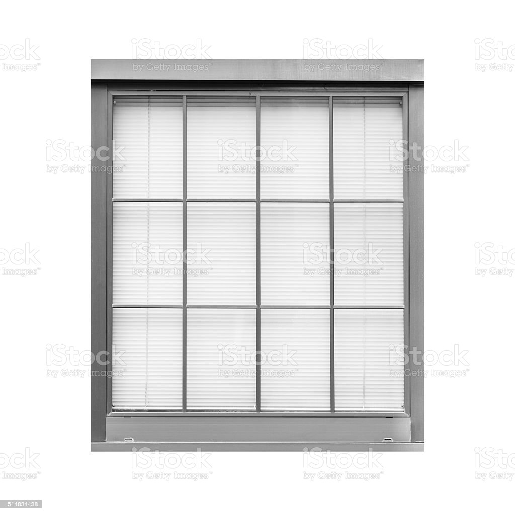 Old Style Metal Window Isolated On White Background Stock Photo ...
