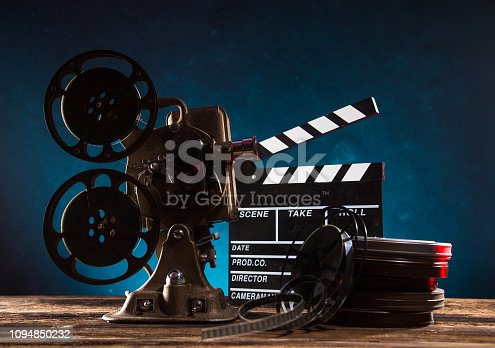 istock Old style movie projector, close-up. 1094850232