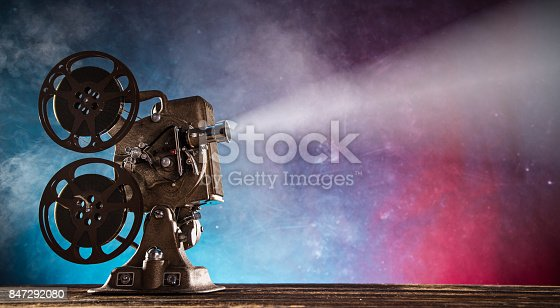 istock Old style movie projector, close-up 847292080
