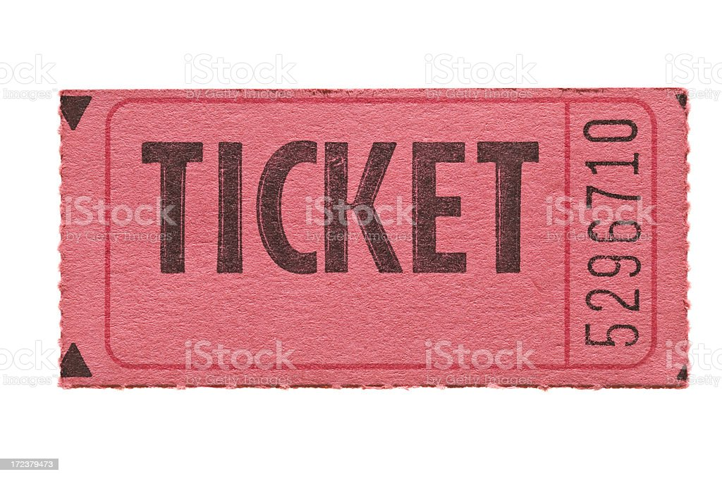 Old Style Paper Ticket stock photo