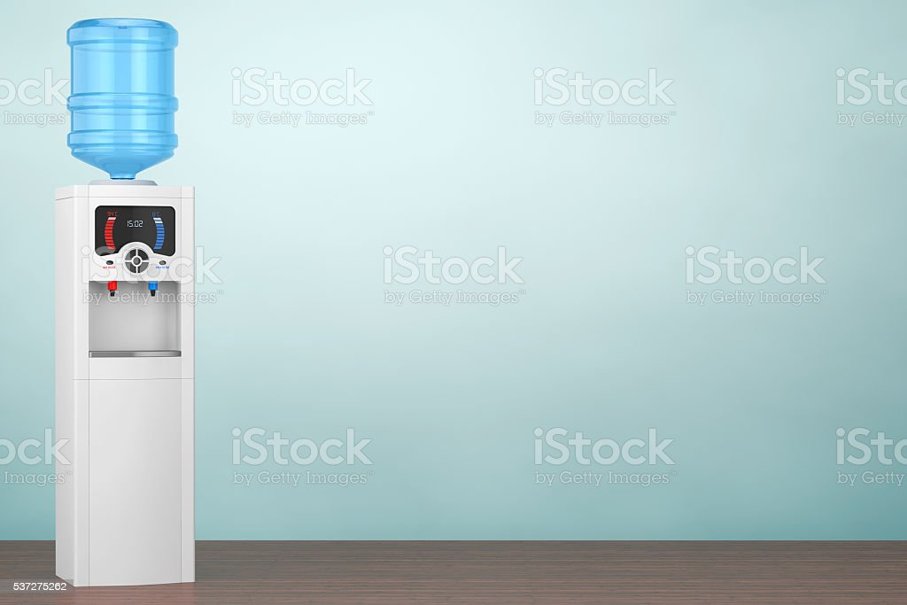 Old Style Photo. Water Cooler with Bottle. 3d rendering stock photo