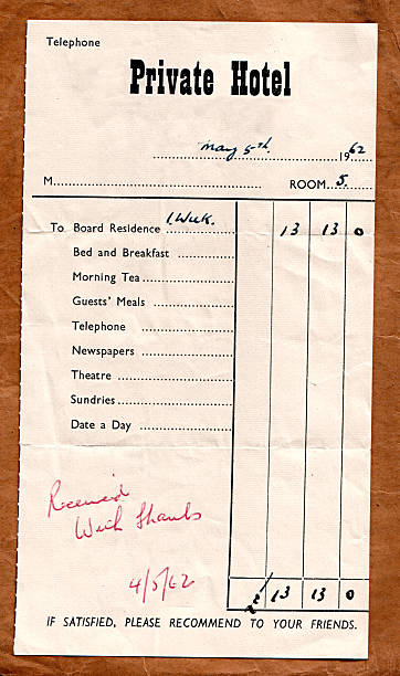 Royalty free hotel receipt pictures images and stock photos istock old style receipt stock photo thecheapjerseys Choice Image