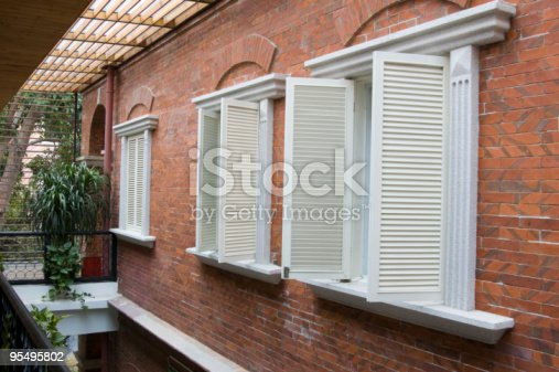 istock Old style shutters 95495802