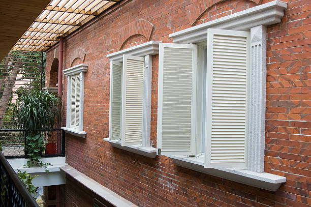 Old style shutters stock photo