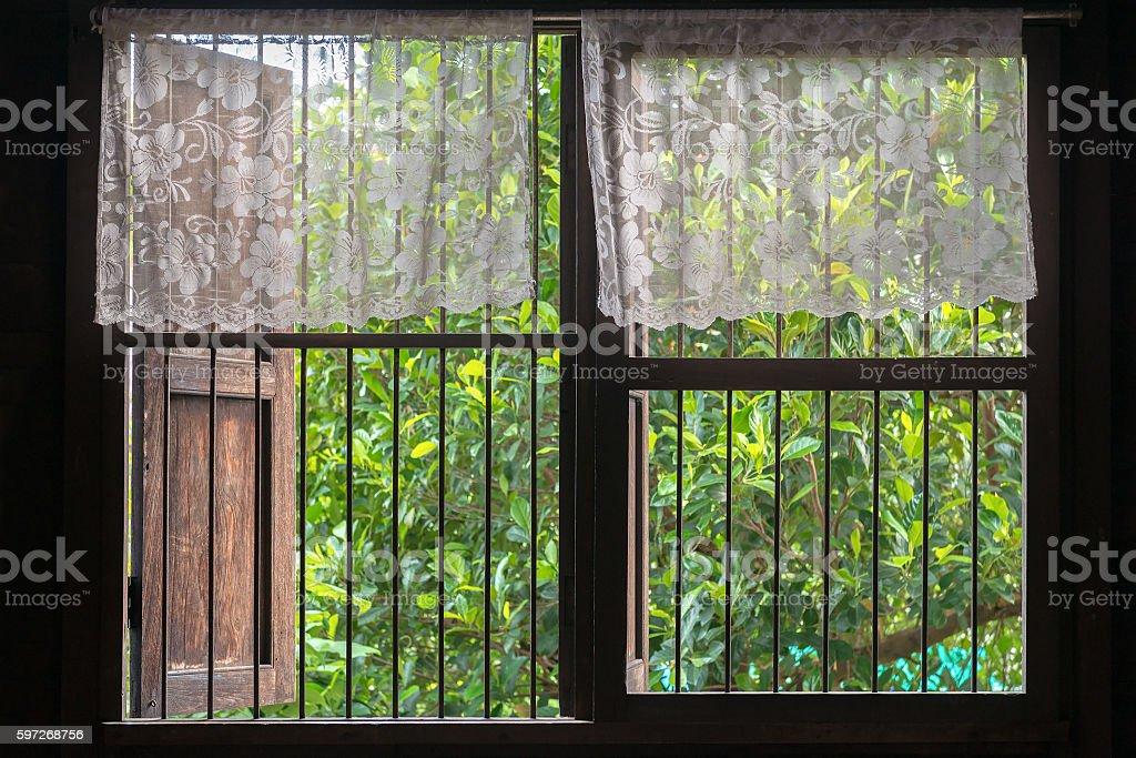Old style Thai window photo libre de droits