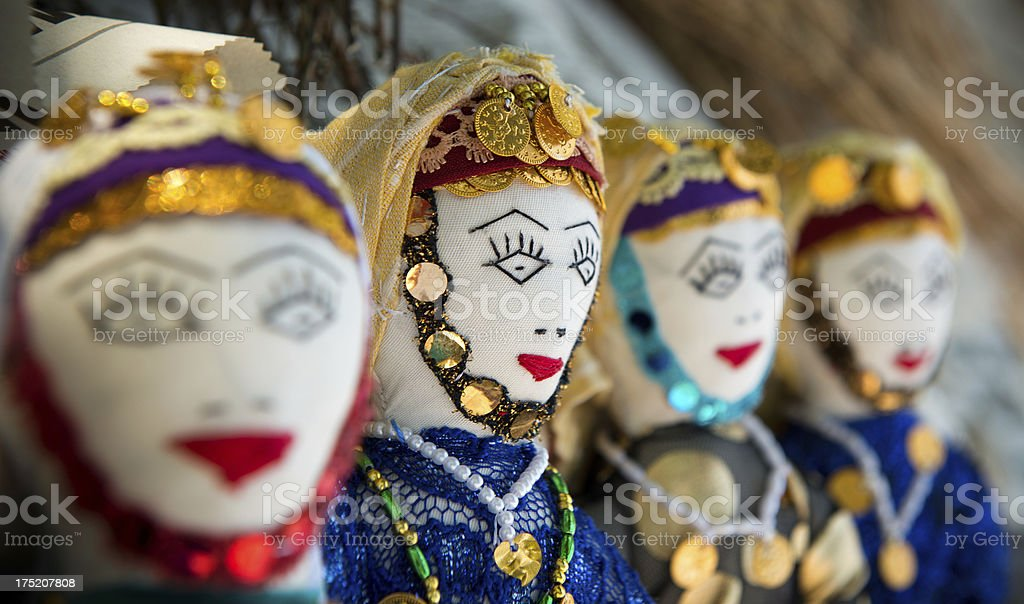 Old style Turkish dolls stock photo