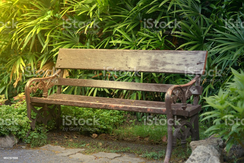 Super Old Style Vintage Wooden Bench Or Chair In Park With Ncnpc Chair Design For Home Ncnpcorg