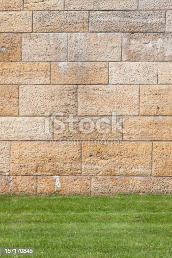 Old style wall and grass