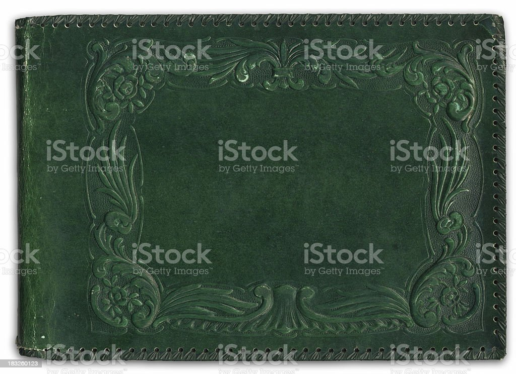 Old style wedding album back cover royalty-free stock photo
