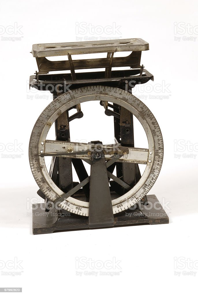 old style weight machine royalty free stockfoto