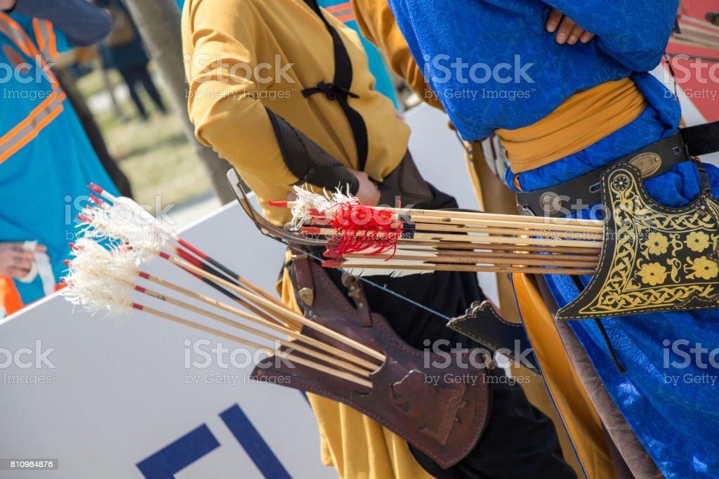 Flechas de madera de estilo antiguo - foto de stock