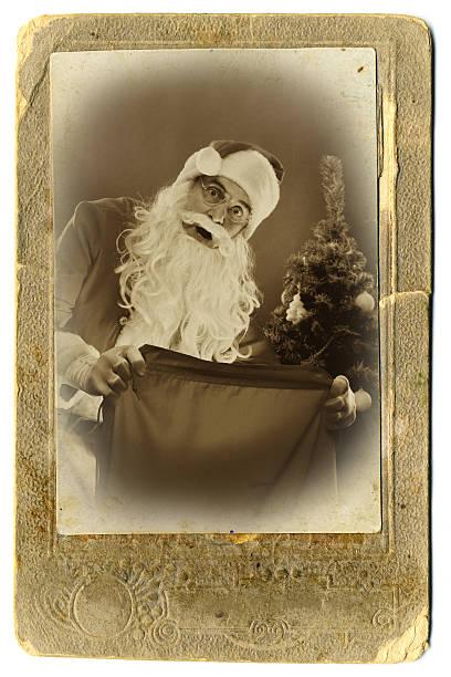 alten stil weihnachten-karte - nikolaus geschichte stock-fotos und bilder