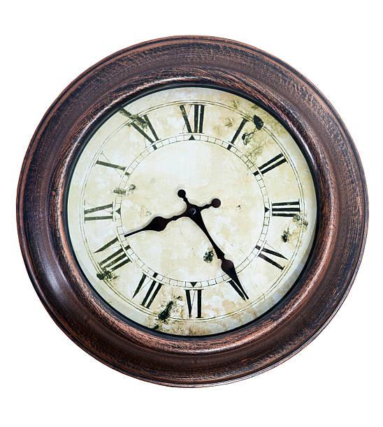 Old stilisierte Uhr isoliert. – Foto