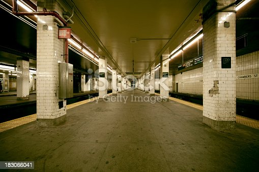 Old subway station in New York City.