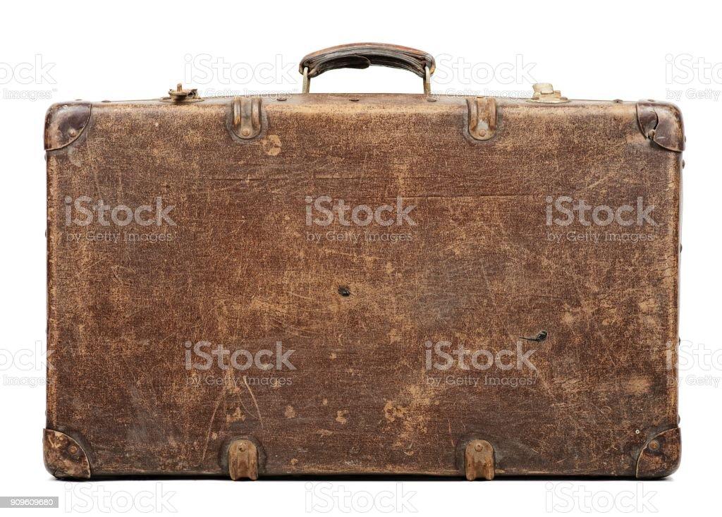 Alten Koffer isoliert auf weißem Hintergrund Lizenzfreies stock-foto