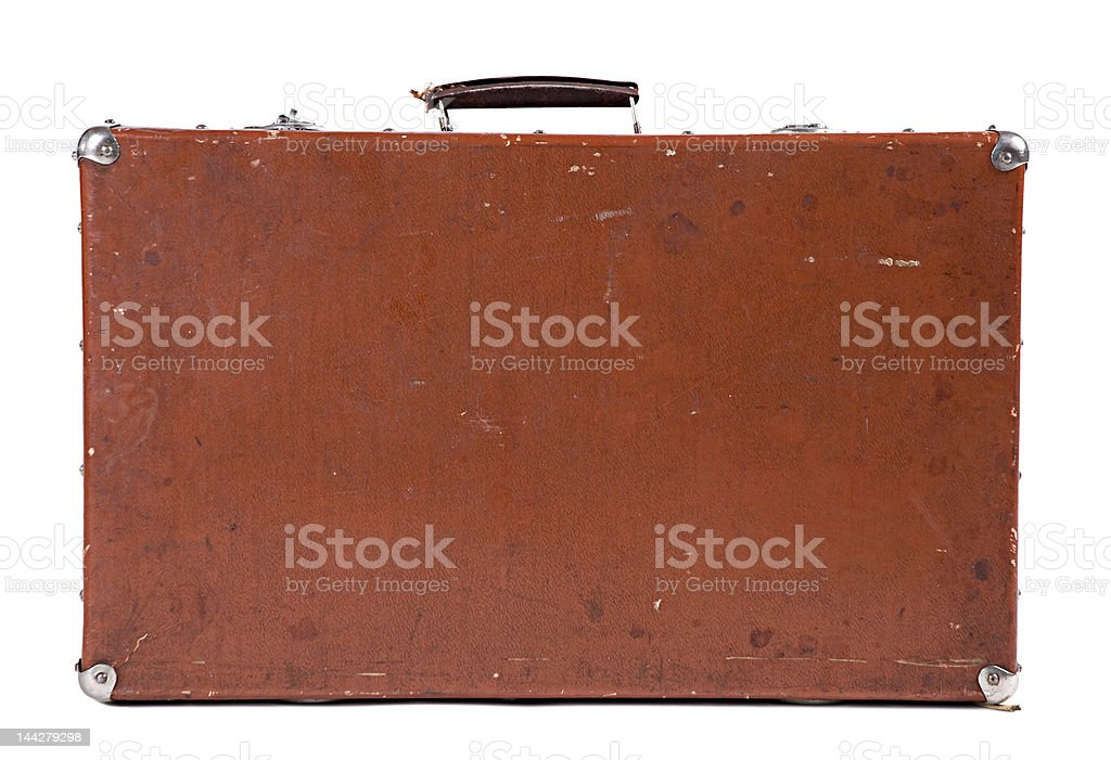 Old Suitcase isolated [with clipping path] stock photo