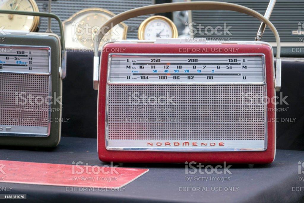 Old suitcase radio of the company NORDMENDE on a Hamburg flea market...