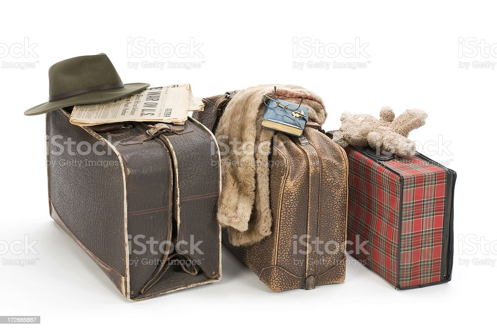 Old suitcases royalty-free stock photo