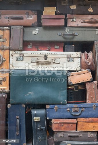 istock Old Suitcases 524575919