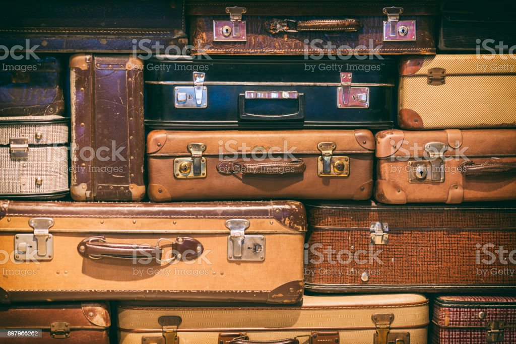 Old Suitcases Stacked royalty-free stock photo