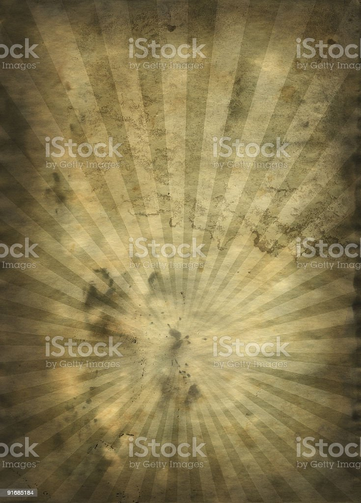 Old Sunburst Paper XXL royalty-free stock photo
