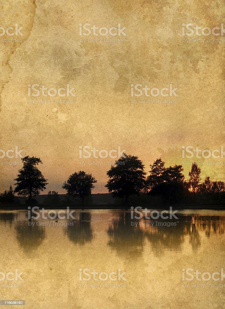old sunset photo royalty-free stock photo