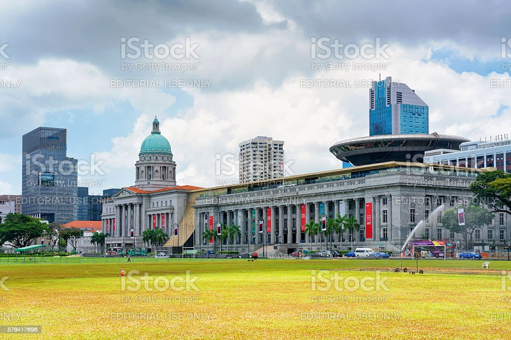 Old Supreme Court and National Gallery in Singapore stock photo