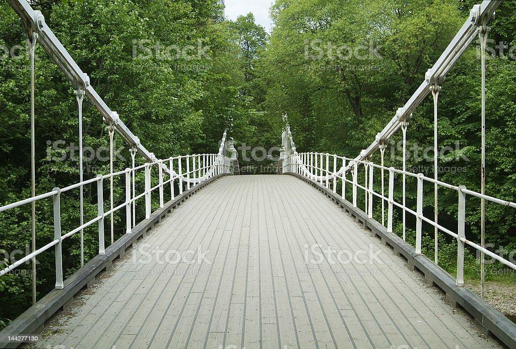 Old suspension bridge royalty-free stock photo