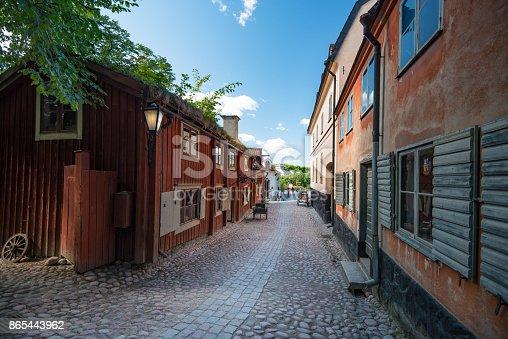 istock Old swedish traditional village. Scandinavia, Europe. 865443962