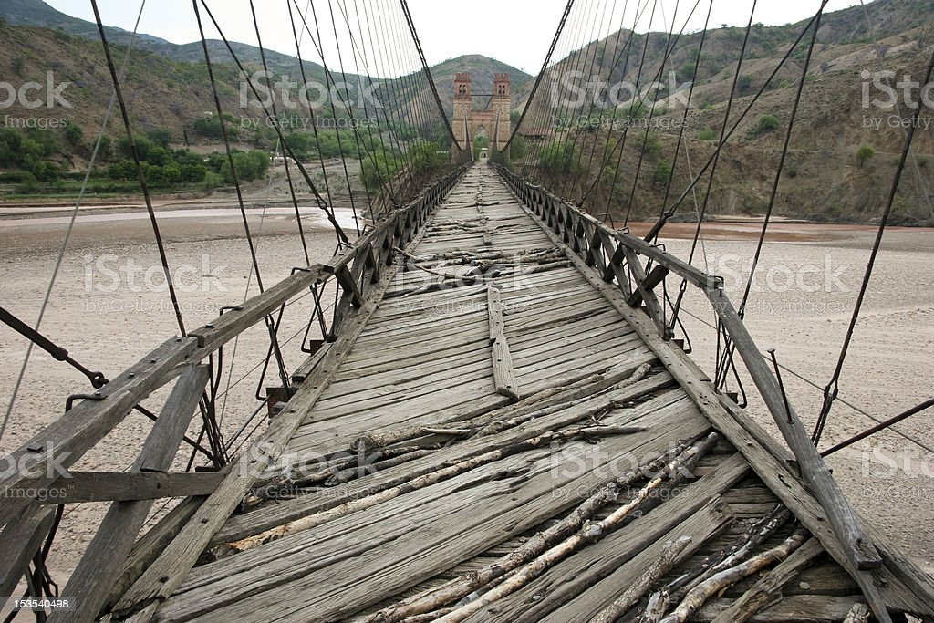 Old Swinging Bridge stock photo