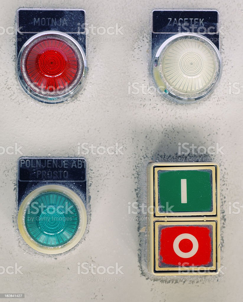 old switches stock photo