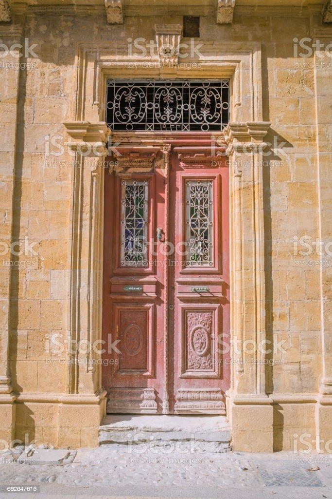 Old syle door stock photo