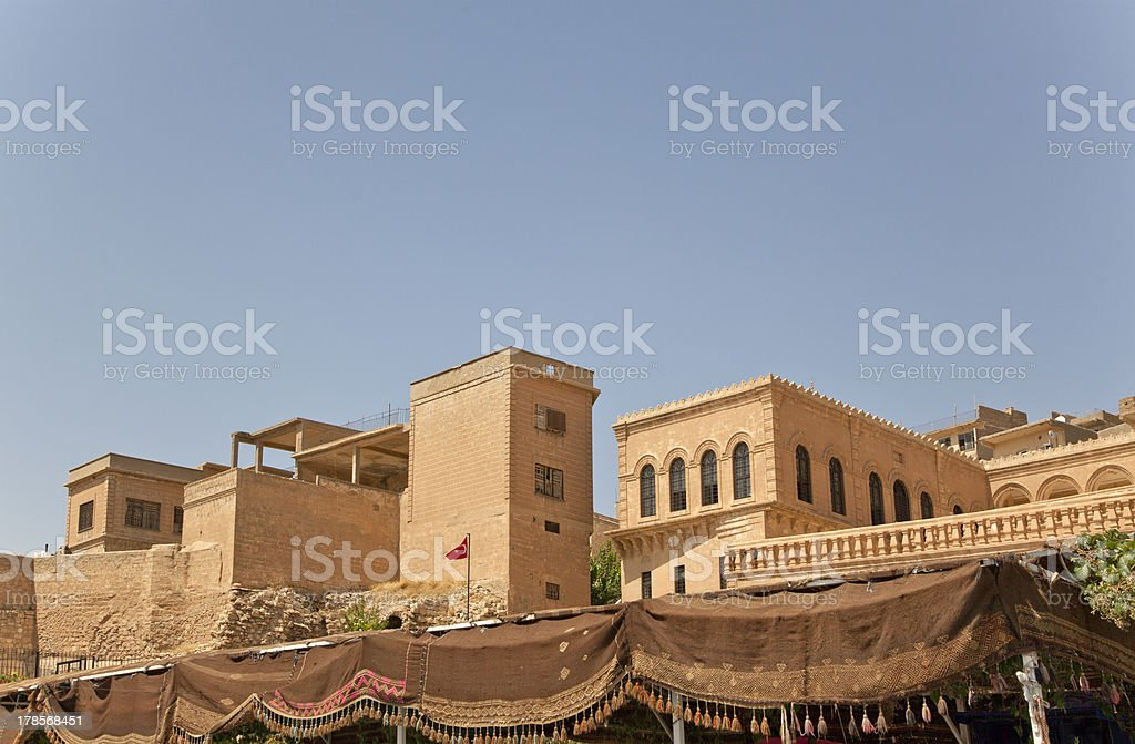old syrian style buildings at mardin turkey royalty-free stock photo