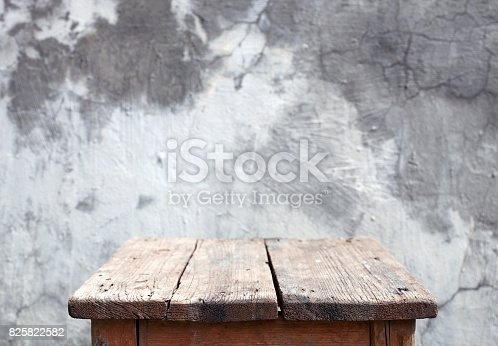 Old wooden table.