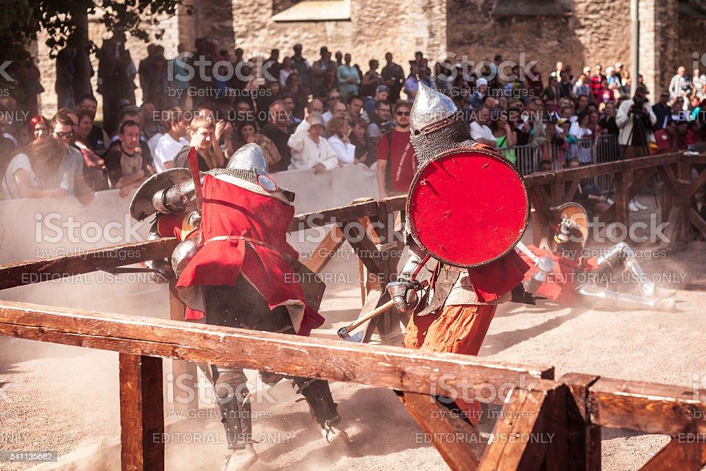 'Old Tallinn Cup' International historical sword fighting tournament stock photo