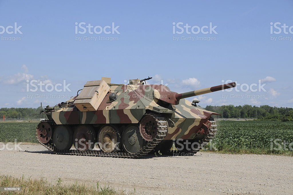 Old tank royalty-free stock photo