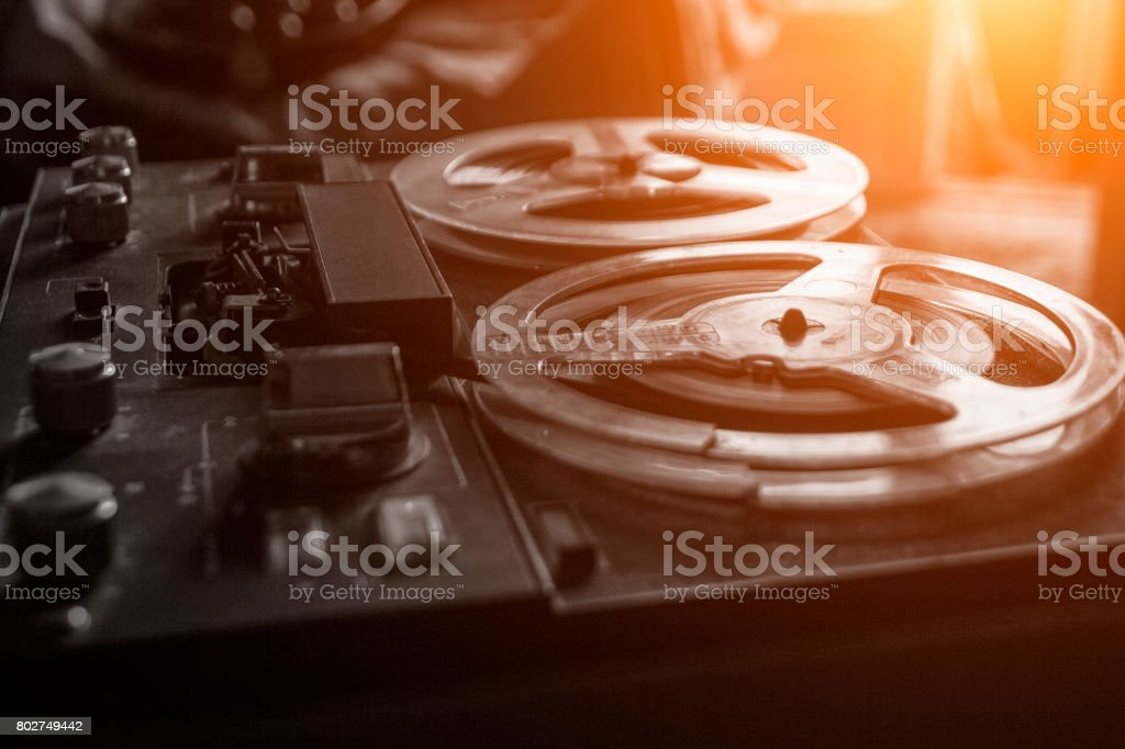 Old tape recorder stock photo
