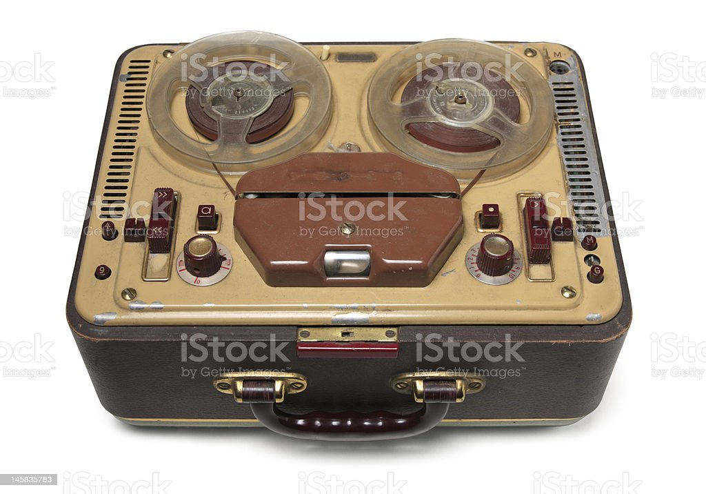 Old tape-recorder stock photo