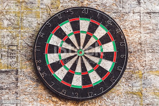 istock Old target for darts 670731222