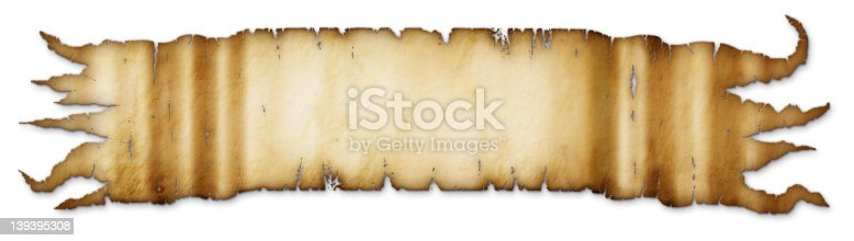 istock Old Tattered Golden Brown Banner 139395308