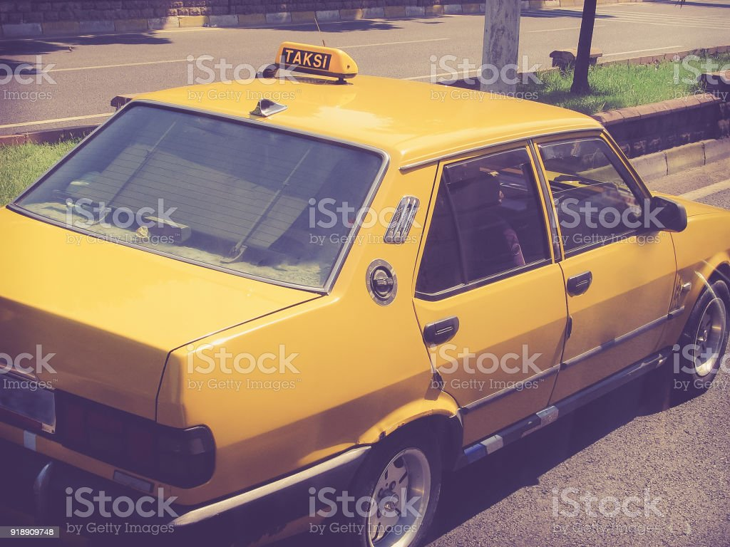 Old Taxi cab stock photo
