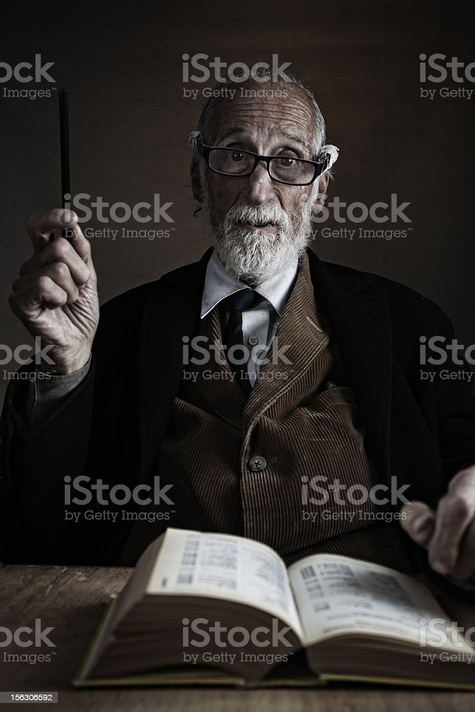 Old teacher lecturing. royalty-free stock photo