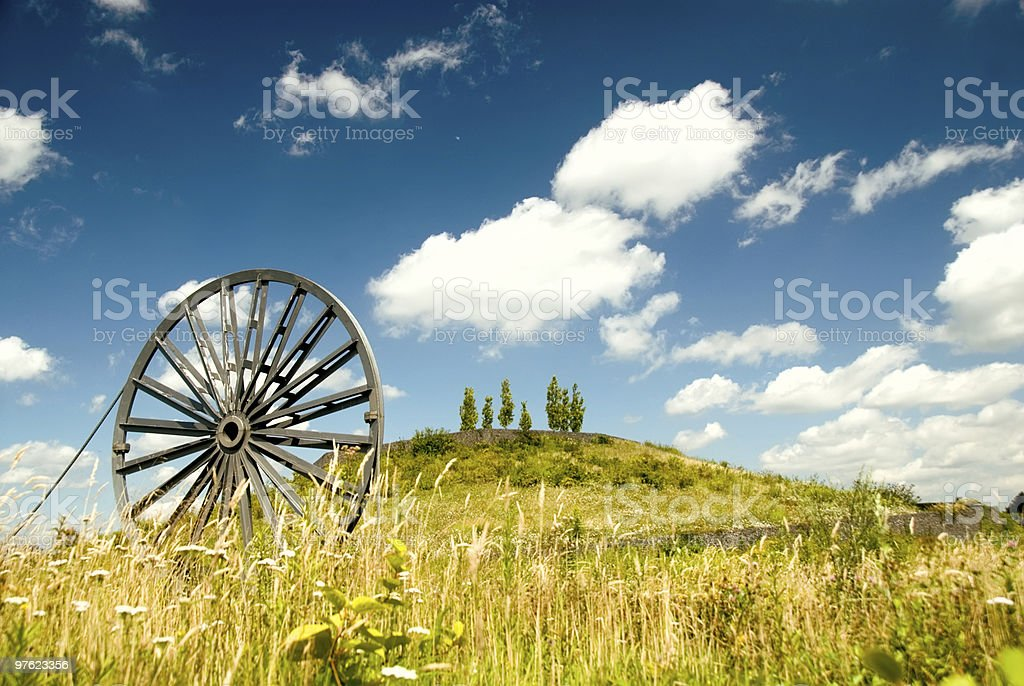 Old technology meets nature royalty-free stock photo