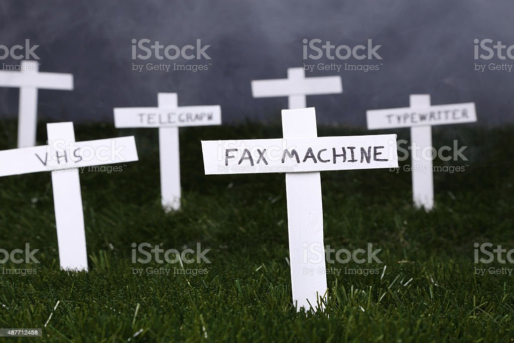 RIP Old Technology stock photo