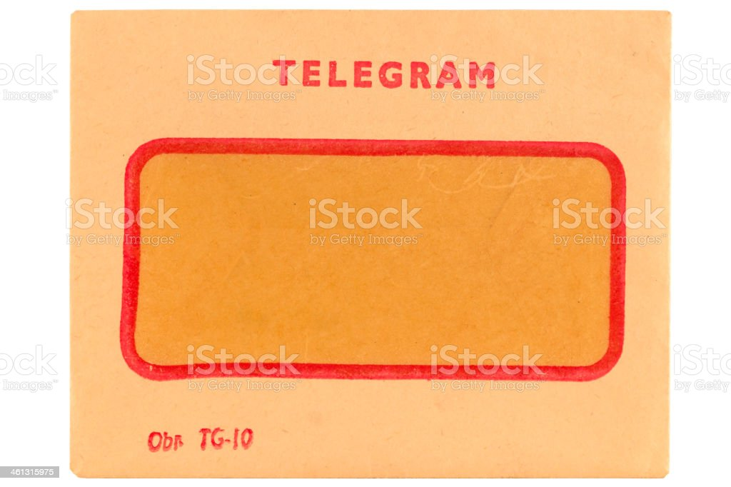 Old telegram envelope royalty-free stock photo